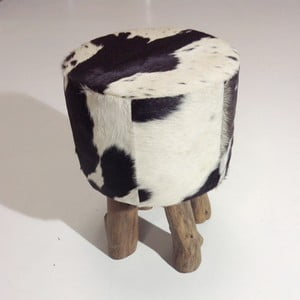 Puf Colo Hocker Black White
