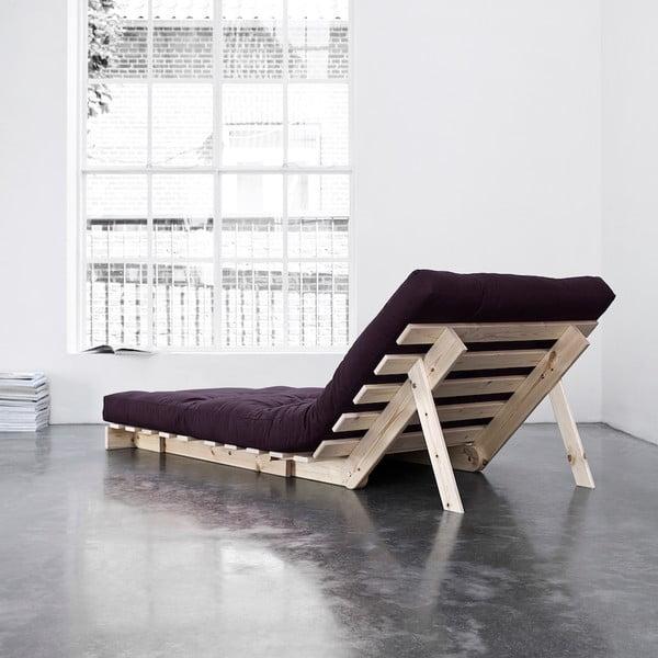 Fotel rozkładany Karup Roots Raw/Purple