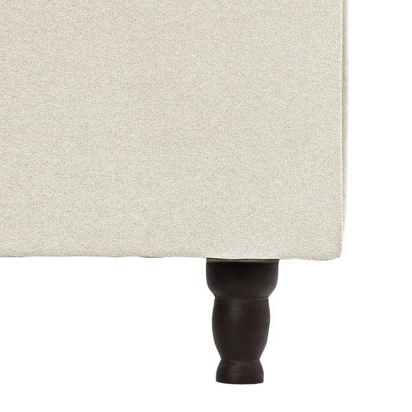 Kremowe łóżko z czarnymi nóżkami Vivonita Allon, 160x200 cm