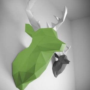 Papierowe poroże Jeleń XL, zielono-białe