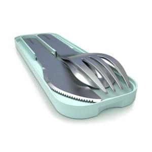 Sztućce kieszonkowe z miętową podkładką do pojemnika na lunch Monbento