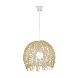 Lampa wisząca Struwel, beżowa 35x40 cm