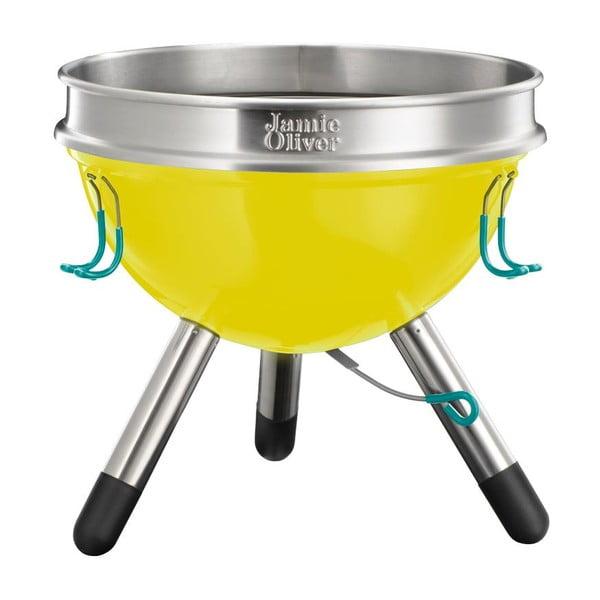 Żółty grill przenośny Jamie Oliver, mały