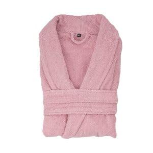 Różowy szlafrok bawełniany Casa di Bassi, rozm. XS/S