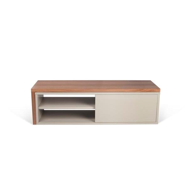 Szara szafka pod TV z dodatkowym stolikiem TemaHome Move