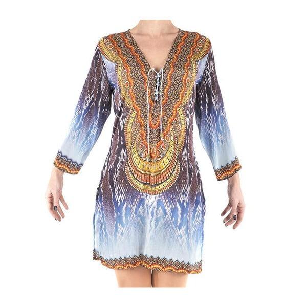 Sukienka plażowa Kurta, M, niebieska