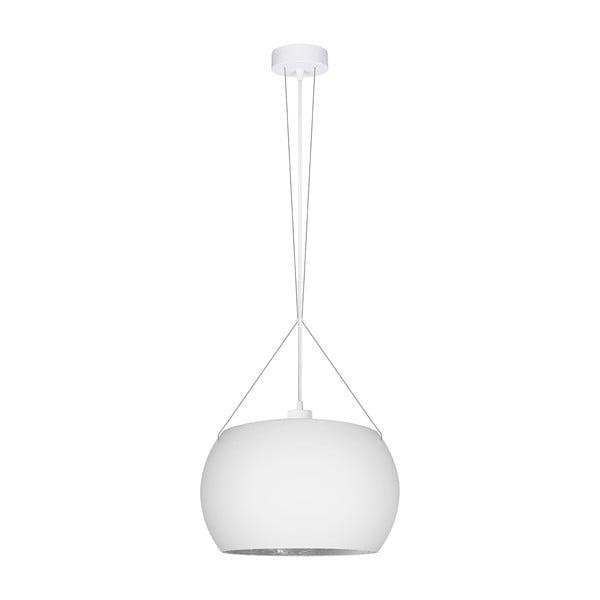 Biało lampa wisząca z srebrnym detalem Sotto Luce Momo Elementary 1S