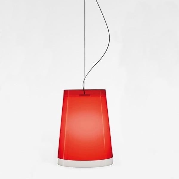 Czerwona lampa wisząca Pedrali L001S/AA