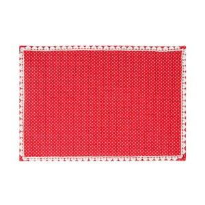 Mata stołowa Basic Hearts 50x33 cm, czerwona