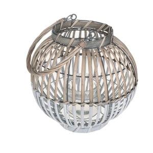 Okrągły lampion z naturalnych materiałów Dino Bianchi, ⌀25cm