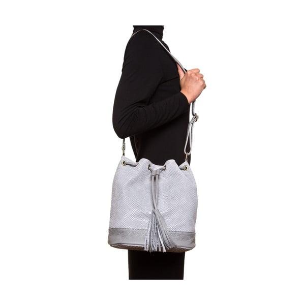 Skórzana torebka Luisa Vannini 8027 Grigio
