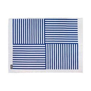 Dywan Lona Print 200x150 cm, niebieski/biały