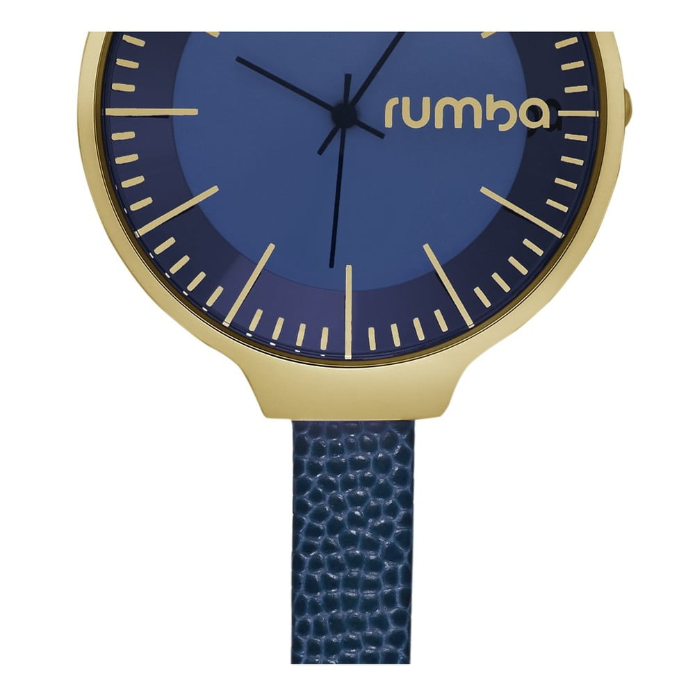 Wspaniały Granatowy zegarek damski ze skórzanym paskiem Rumbatime Orchard IC04
