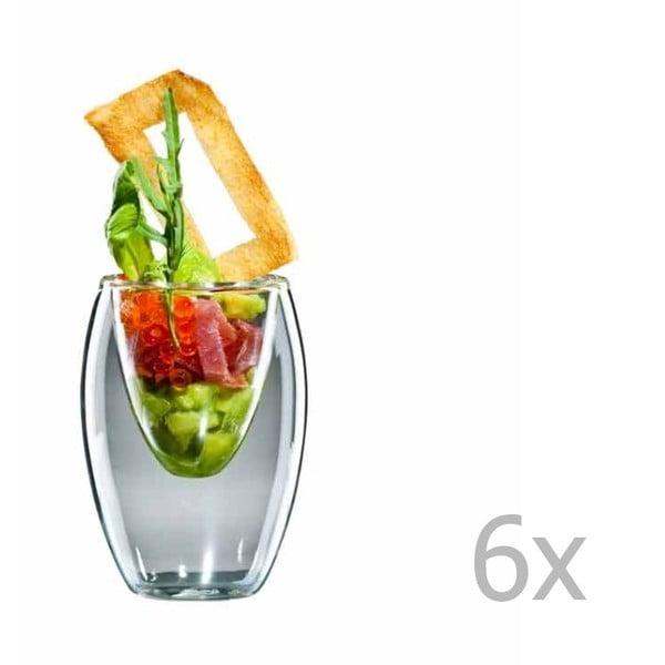 Zestaw   6 mały szklanek bloomix Ovo