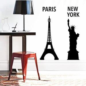 Naklejka dekoracyjna Nowy Jork i Paryż