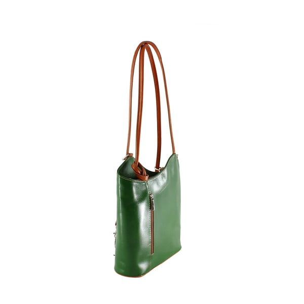 Zielona torebka skórzana Chicca Borse Phoebe