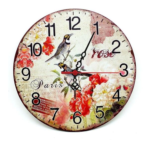 Zegar ścienny Rose Paris, 30 cm