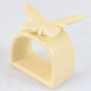 Żółty pierścień na serwetki Dakls