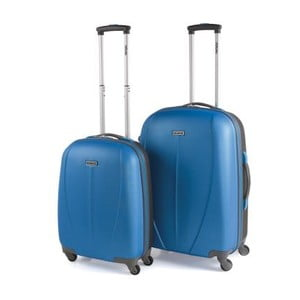 Zestaw 2 walizek Tempo, niebieski