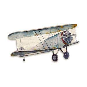 Drewniany samolot dekoracyjny Tanuki Aeroplane, 110x65 cm