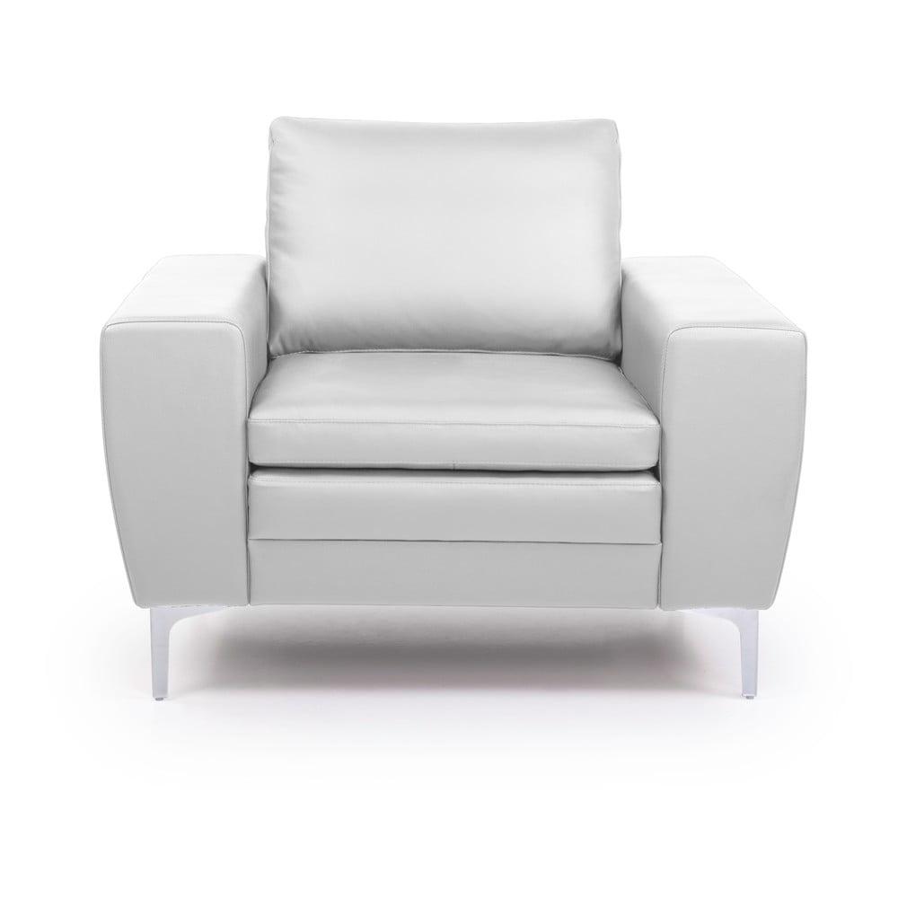 Biały fotel skórzany Scandic Twigo