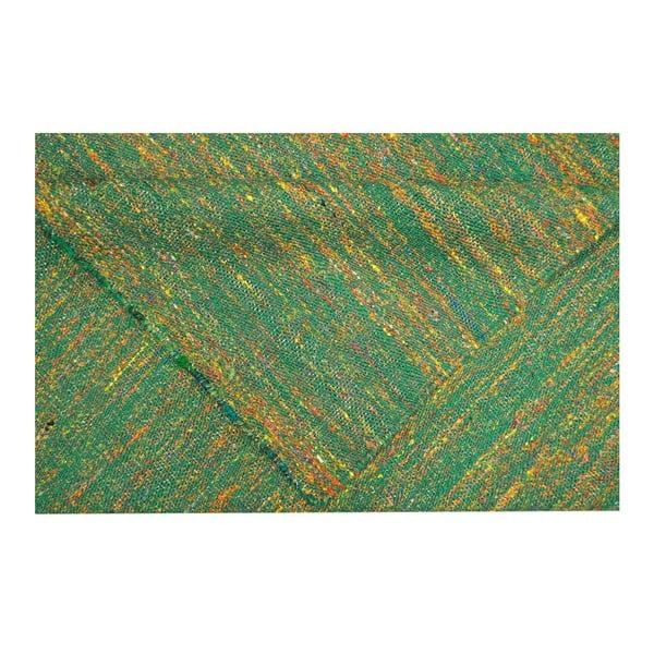 Ręcznie tkany dywan Kilim Sari Silk Green, 140x200 cm