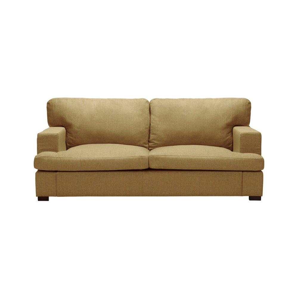 Ciemnożółta sofa The Classic Living Daphne, 170 cm