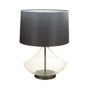 Czarna lampa stołowa z kryształową podstawą Santiago Pons Legans