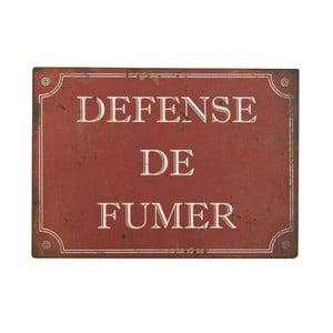 Tabliczka blaszana Defense De Fumer