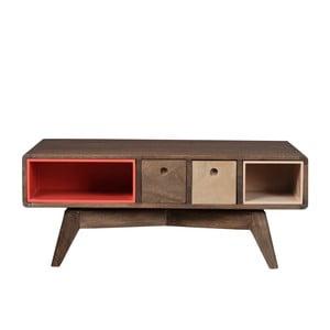 Prostokątny stolik z litego drewna mangowca Woodjam Play Dark