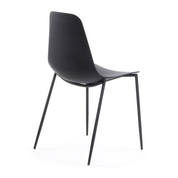 Czarne krzesło La Forma Wassu