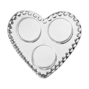 Świecznik Pearl Heart, 12x12x3 cm