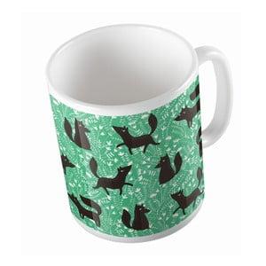 Ceramiczny kubek Fox on Grass, 330 ml
