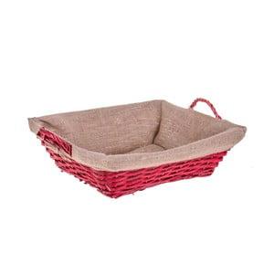 Czerwony koszyk wiklinowy Dino Bianchi, długość38cm