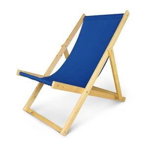 Regulowany leżak drewniany JustRest, niebieski