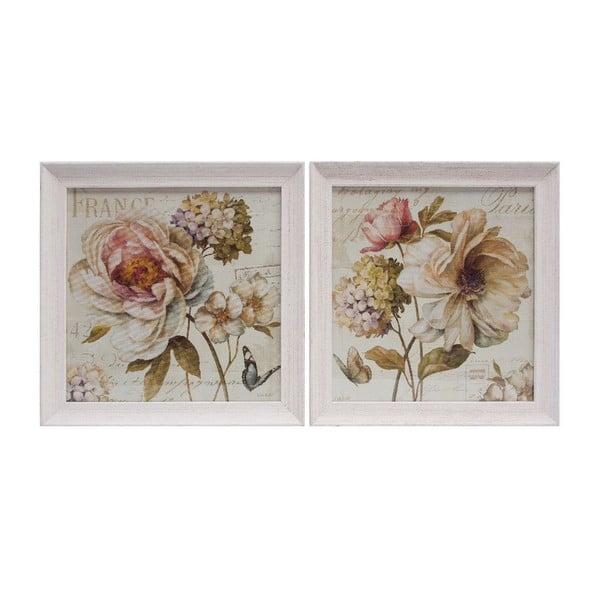 Zestaw 2 obrazów Vintage Rose