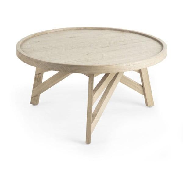 Stolik z drewna mindi La Forma Thais, ø 80 cm