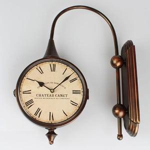 Metalowy dwustronny zegar Dakls Chateua
