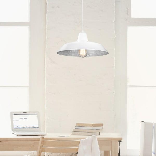 Biało-srebrna lampa wisząca Bulb Attack Cinco
