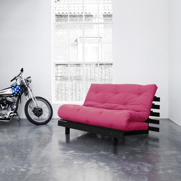 Sofa rozkładana Karup Roots Wenge/Magenta