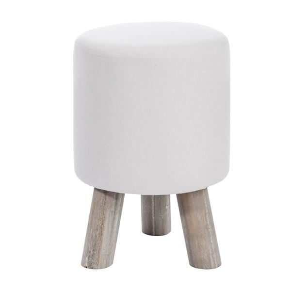 Biały stołek J-Line Cott