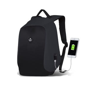 Szaroczarny plecak z portem USB My Valice SECRET Smart Bag