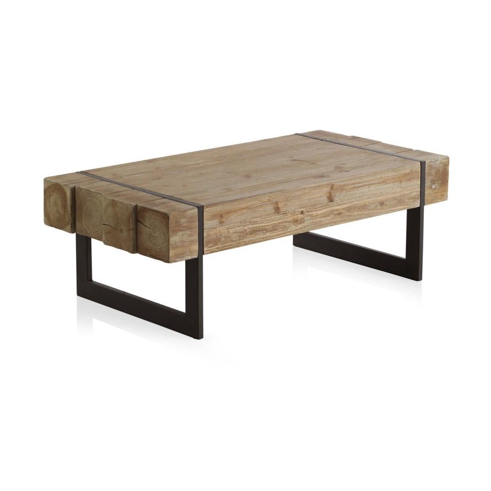 Drewniany Stolik Z Metalowymi Nogami Geese 120x60 Cm Bonami