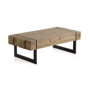 Drewniany stolik z metalowymi nogami Geese, 120x60 cm