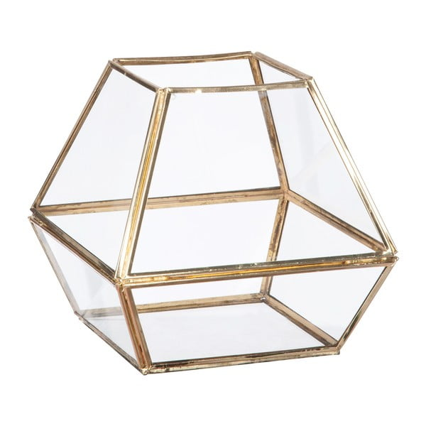 Szklana witrynka/ doniczka Stand Glass Gold, 16 cm