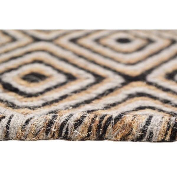 Ręcznie tkany dywan Dark Brown Pattern Kilim, 150x215 cm