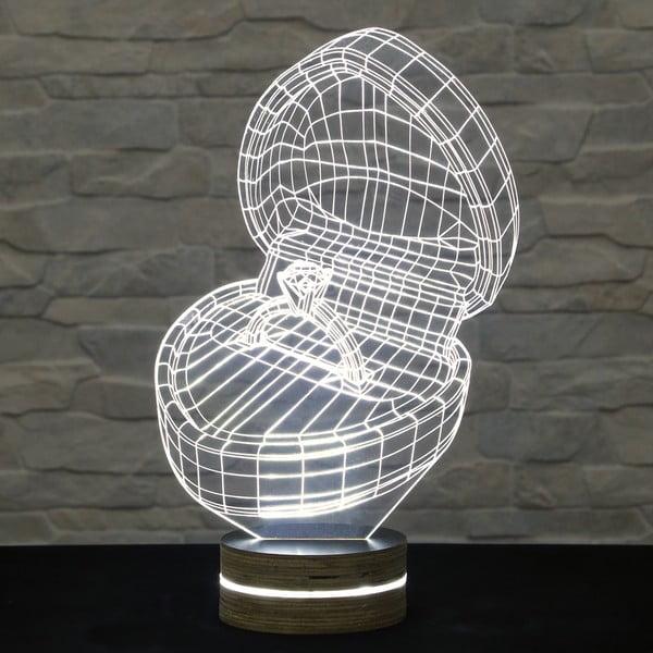 Lampa 3D stołowa Marry me