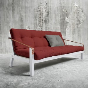 Sofa rozkładana Karup Poetry White/Passion Red/Granite Grey