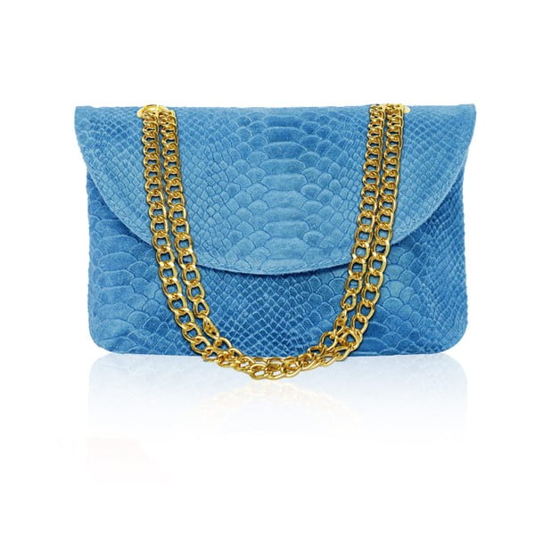 Skórzana torebka Gaia, niebieska