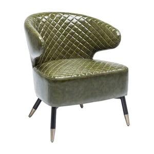 Zielony fotel ze skóry ekologicznej Kare Design Coctailsessel